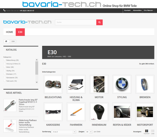 Online Shop bavaria-tech.ch